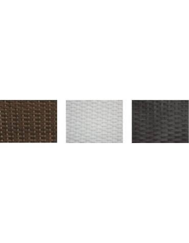Lettino in alluminio e polietilene Elegant