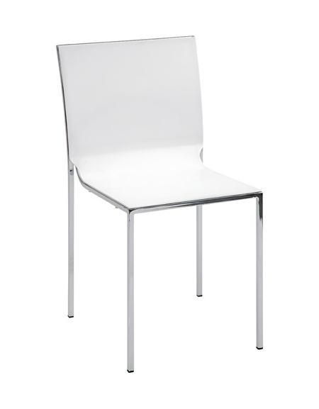 Sedia in acciaio cromato e polipropilene - Sedie e tavoli per bar ...