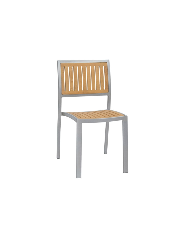 Sedie Alluminio E Legno.Seduta In Alluminio Verniciato E Legno Di Rovere Allumino E Legno