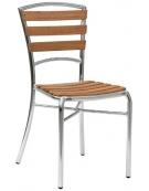 Seduta in alluminio anodizzato e legno di rovere Venezia