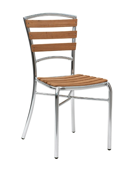 Sedie Alluminio E Legno.Sedia In Alluminio Anodizzato E Legno Di Rovere