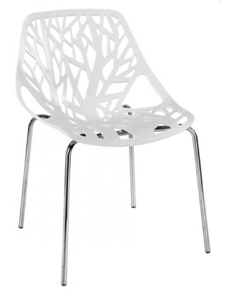 Sedie Acciaio E Plastica.Sedia In Acciaio Cromato E Polipropilene Sedie E Tavoli Per Bar