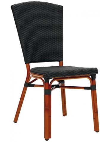 Sedia simil Bambu alluminio e polipropilene mod. Vintage