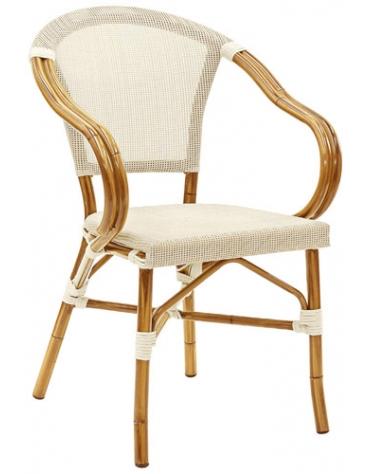 Poltrona simil Bambu alluminio e textilene  mod. Montecarlo
