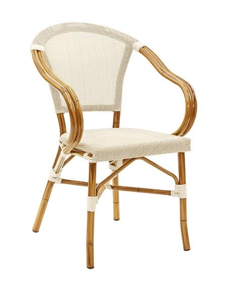 Poltrona Simil Bambu Alluminio E Textilene Mod Montecarlo Sedie E Tavoli Per Bar O Ristoranti Linea Contract Linea Bambu