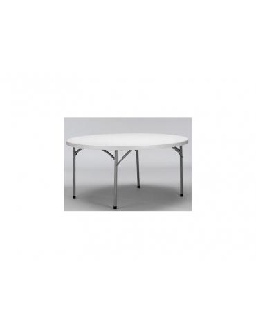 Tavolo catering rotondo pieghevole polietilene Diametro cm.160