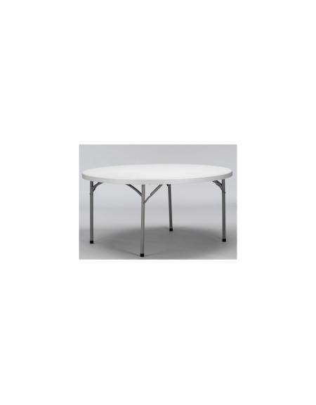 Tavolo catering rotondo pieghevole polietilene Diametro cm.180
