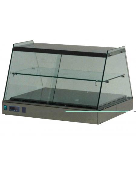 Vetrina calda da banco vetri piani cm. 126x70x55h - PER TEGLIE