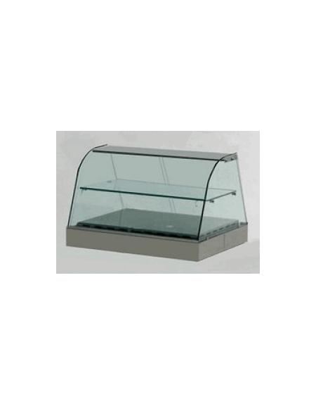 Vetrina calda da banco vetri curvi cm. 126x70x55h - PER TEGLIE