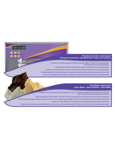 Mantecatore verticale professionale per gelato - Lt.110/orari