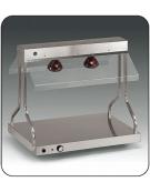 Piano caldo inox con N° 2 lampade a infrarossi
