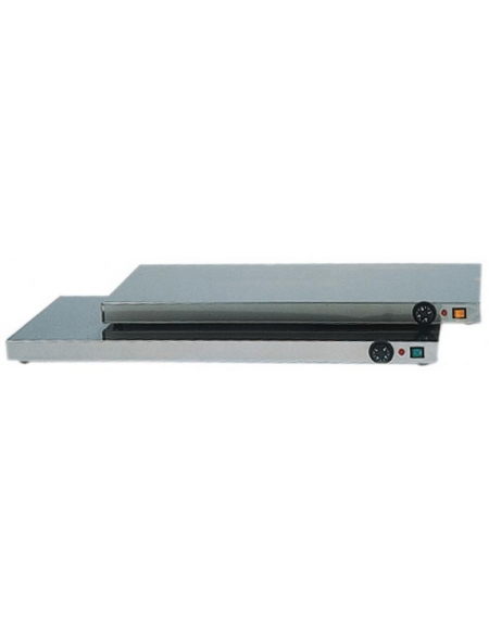 Piano caldo inox per riscaldare cm. 50x35x6h
