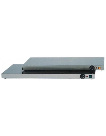 Piano caldo inox per riscaldare cm. 90x45x6h