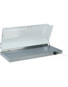 Piano caldo inox con cupola plexiglass cm. 90x45x20h