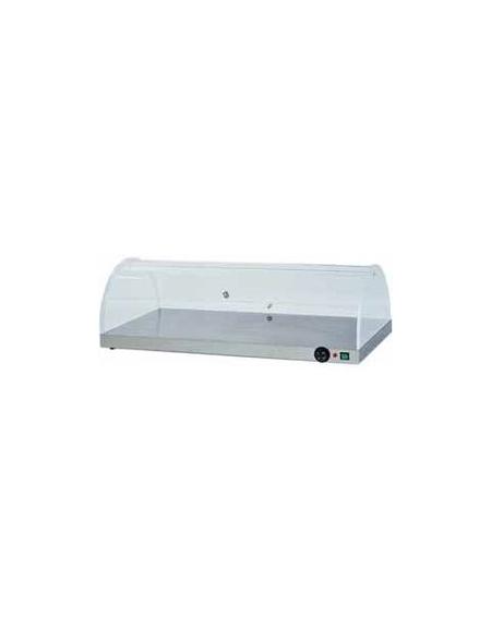 Piano caldo inox con cupola plexiglass cm. 100x50x30h