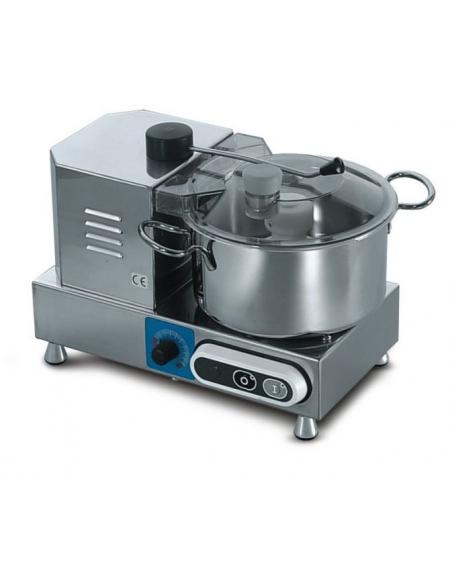 Cutter industriale per alimenti da Lt. 3,3 - Con variatore di velocità stabilizzato con controllo di potenza
