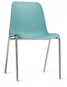 Sedia in polipropilene  impilabile per meeting riunioni congressi - struttura in metallo - cm 49x54x44 / 79H