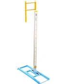 Coppia di ritti per salto con l'asta regolazione in altezza da cm.280 a cm.650 - Omologati I.A.A.F.