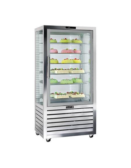Vetrina esposizione pasticceria/gelateria no-frost cm.90x62x186h