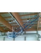 Impianto basket sollevabile a soffitto
