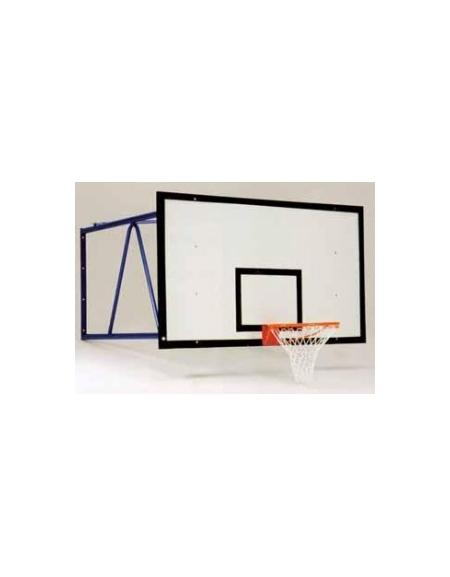 Impianto basket fisso per parete sbalzo cm.185