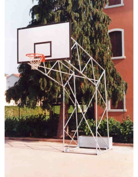 Impianto basket a traliccio zavorrabile