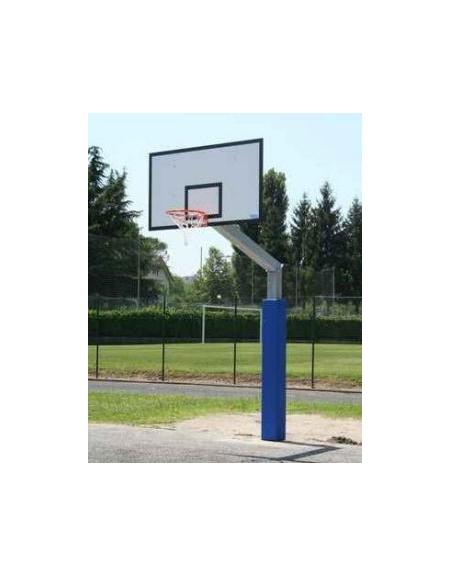 Impianto basket monotubolare con piastra - Sbalzo cm 165