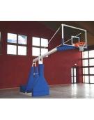 Impianto basket oleodin elettr certificato FIBA, sbalzo cm 330