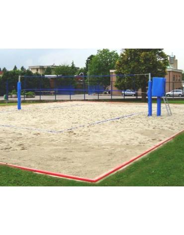 Impianto beach-volley/tennis zincato mm.50