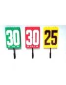 Blocco numeri per sostituzione giocatori con impugnatura