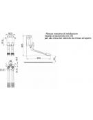 Miscelatore 2 pedali a parete acqua calda e fredda