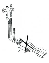 Kit di montaggio per miscelatori a pedale acqua calda e fredda