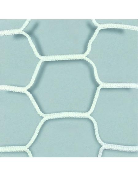 Coppia reti per porte da calcio maglia extra esagonale,