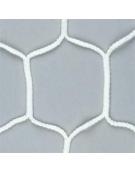Coppia reti calcio regolamentari, in treccia di nylon