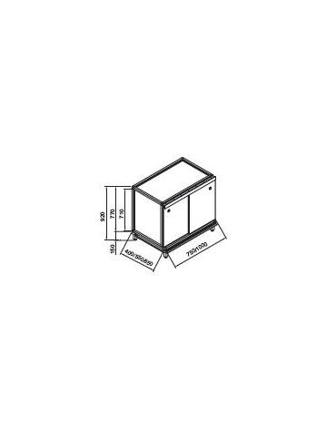 Retrobanco neutro senza top da cm. 75x40x92h