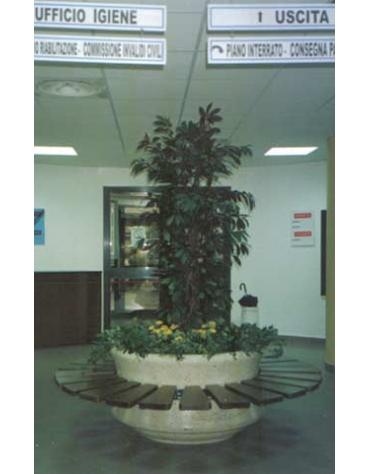 Panchina circolare con fioriera centrale diametro cm. 120