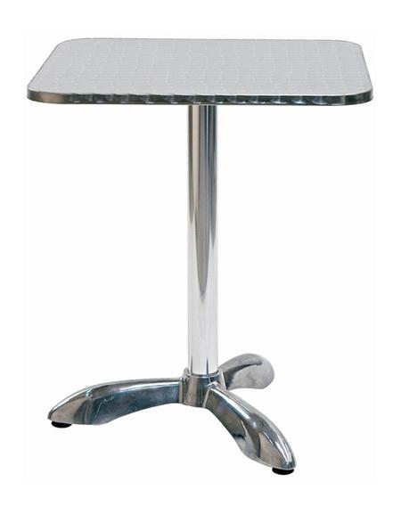 Tavolo quadrato cm 60x60 bar alluminio palo centrale tavoli linea alluminio sedie e - Tavolo profondita 60 cm ...