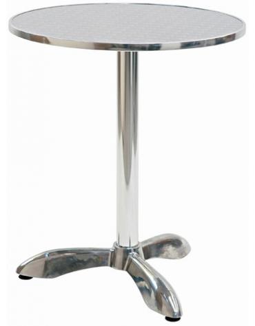 Tavolo tondo diametro cm. 60 bar alluminio palo centrale