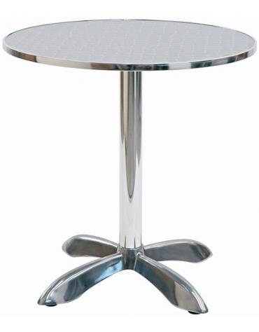 Tavolo tondo diametro cm. 70 bar alluminio palo centrale