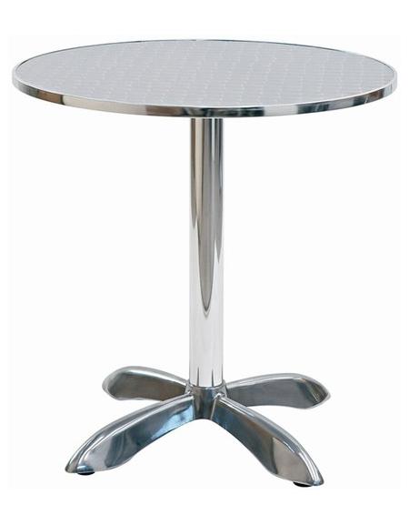 Tavolo Tondo Alluminio.Tavolo Tondo Diametro Cm 80 Bar Alluminio Palo Centrale