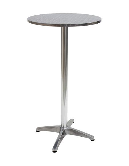 tavolo alluminio tondo bar alto diametro piano cm 60ForTavolo Tondo Alto