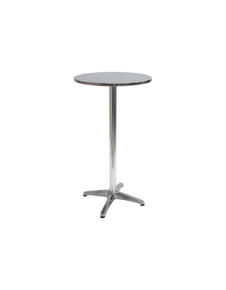 Tavolo quadrato cm 80x80 bar alluminio impilabile doppia for Tavolo tondo alto