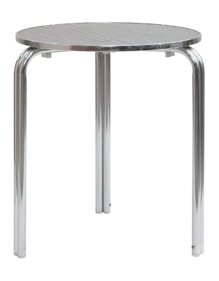 Tavolo Tondo Alluminio.Tavolo Tondo Alluminio Impilabile Diametro Cm 70 Doppia Gamba