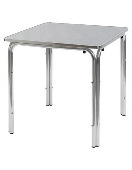 Tavolo quadrato cm 60x60 bar alluminio impilabile doppia for Tavolo quadrato grande