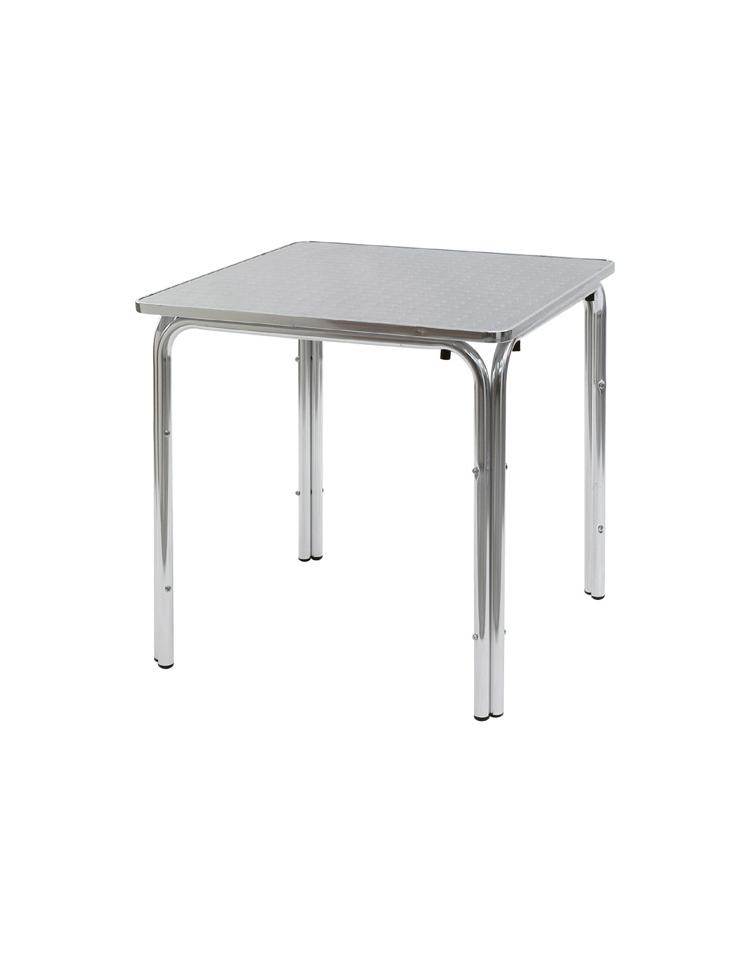 Gambe Alluminio Per Tavoli.Tavolo Quadrato Cm 60x60 Bar Alluminio Impilabile Doppia Gamba