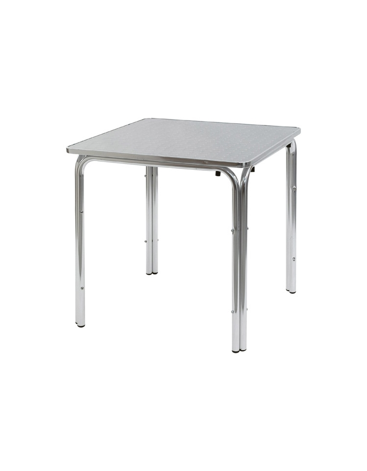 Tavolo quadrato cm 70x70 bar alluminio impilabile doppia for Tavolo quadrato grande