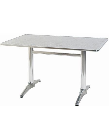 Tavolo rettangolare in alluminio cm. 120x70x73h - Tavoli - Linea ...