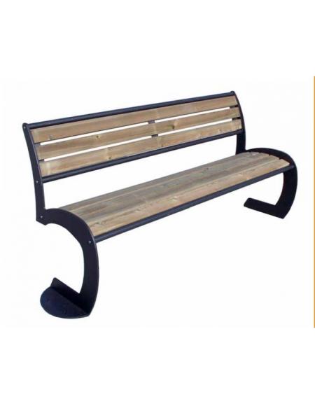 Panchina Circle legno di pino con schienale - Panchine in legno ed ...