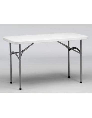Tavolo catering rettangolare pieghevole in polietilene cm 123x61