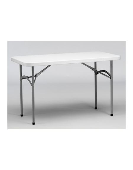 Tavoli Pieghevoli Per Ristoranti.Tavolo Catering Rettangolare Pieghevole In Polietilene Cm 123x61